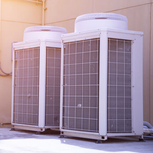 two outdoor electric furnaces