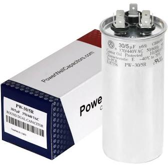 close up of a heater capacitor and box